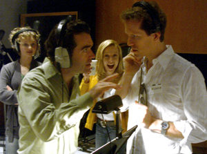 """""""Jeffry Denman and me in the legendary Capitol Records Studios."""""""
