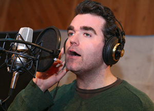 """""""In the booth at MSR Legacy Studios in NYC recording Shrek the Musical."""""""