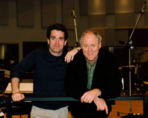 """""""John Lithgow and me in the recording studio."""""""